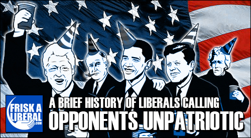 Liberals-Unpatriotic
